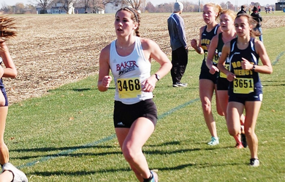 Rosie Hollis advanced to the 2015 NAIA M. Cross Country National meet.