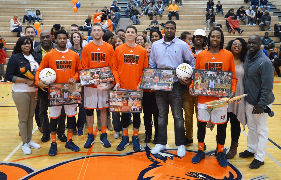 Five Baker Seniors earned a big upset win over No. 24 Grand View on Saturday