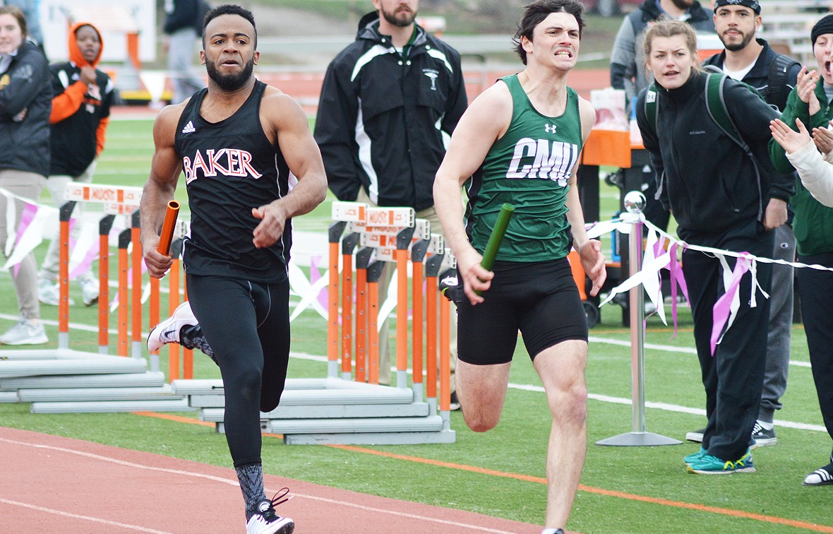 Avery Parker took home first place in the men's triple jump this weekend