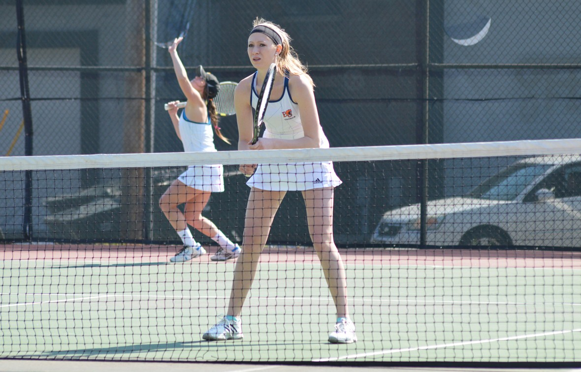 Brooke Barnard earned a doubles and singles win over St. Louis College of Pharmacy on Friday