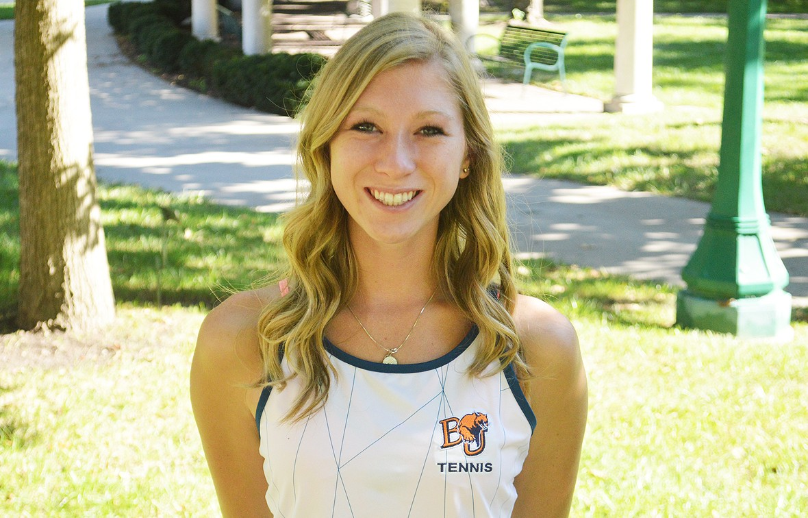 Brooke Barnard picked up a doubles and singles win against Evangel over the weekend