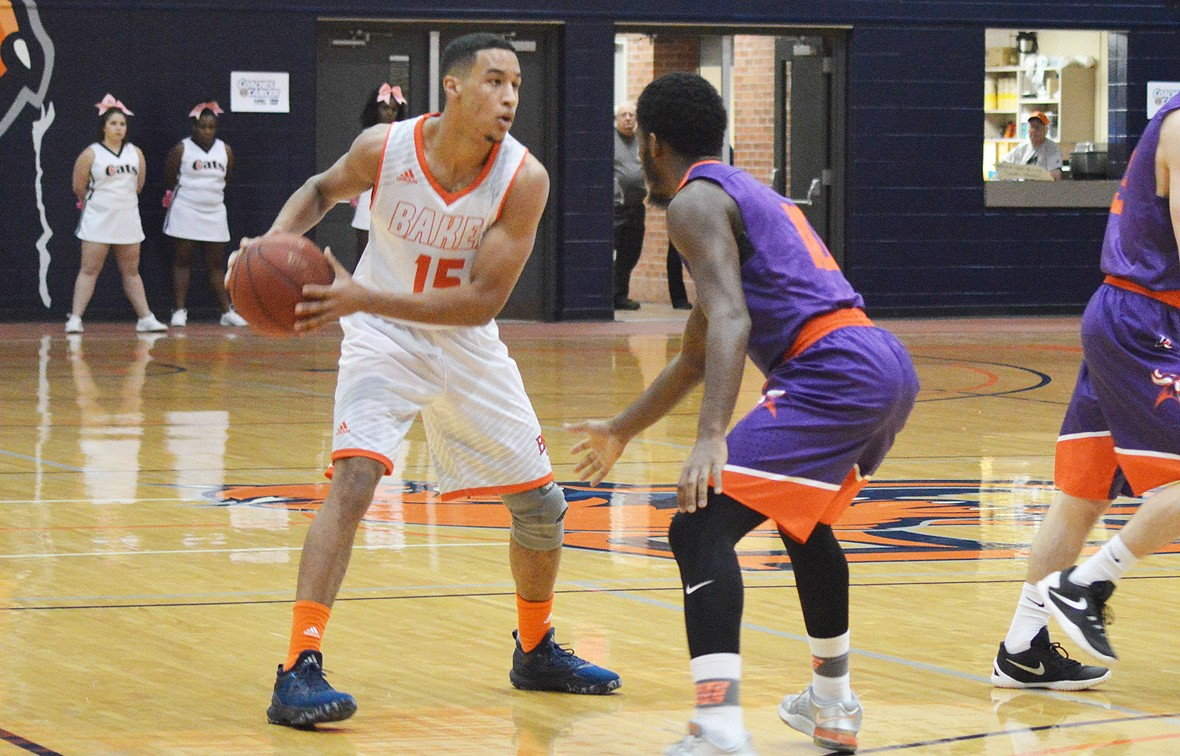 Clae Martin scored 11 points for Baker on Monday night