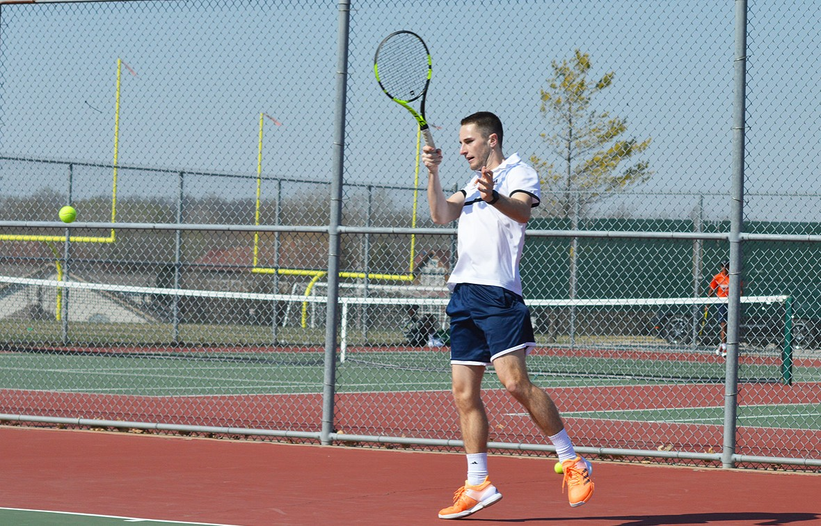 Gavin Webster (pictured) earned a doubles victory vs Ottawa on Tuesday with teammate Conner Petty