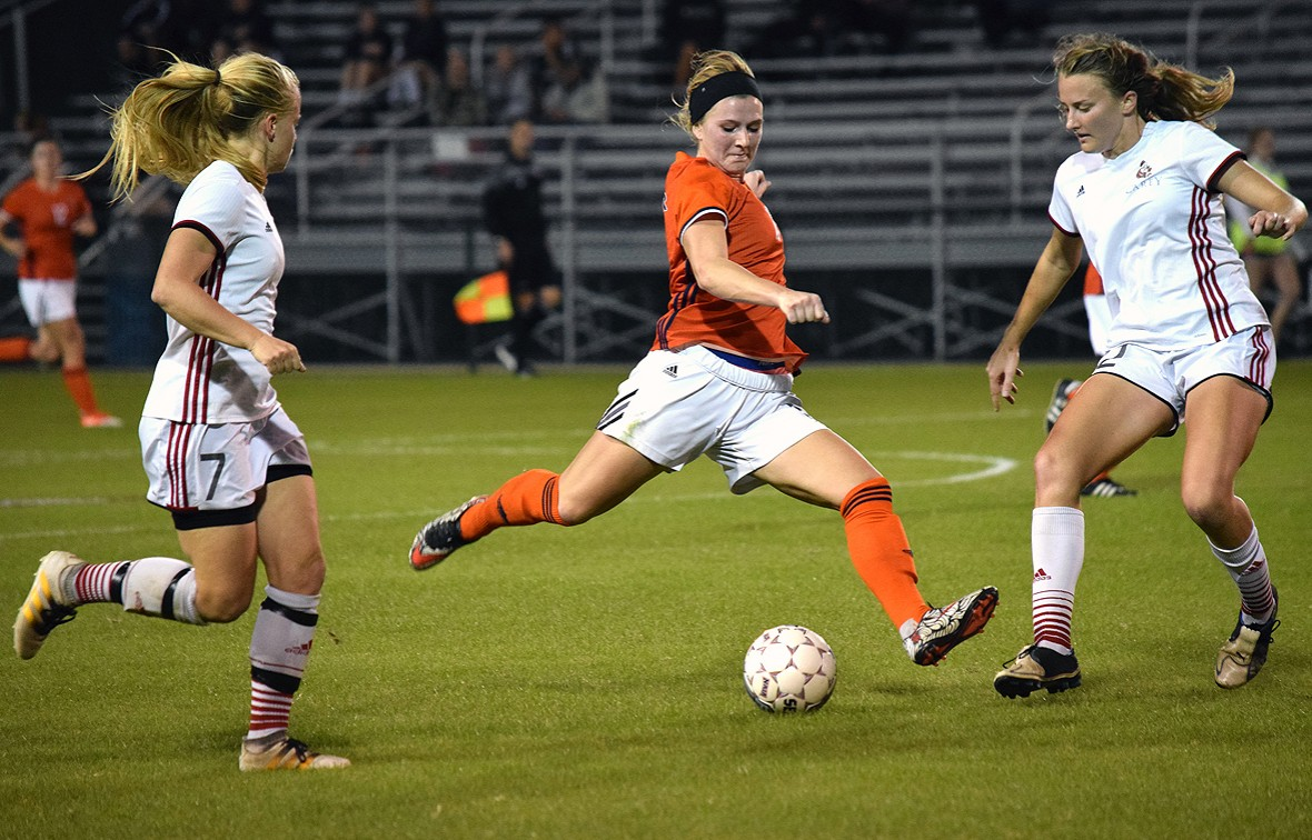 Krista Hooper scored the game-winner against No. 12 Benedictine on Wednesday night