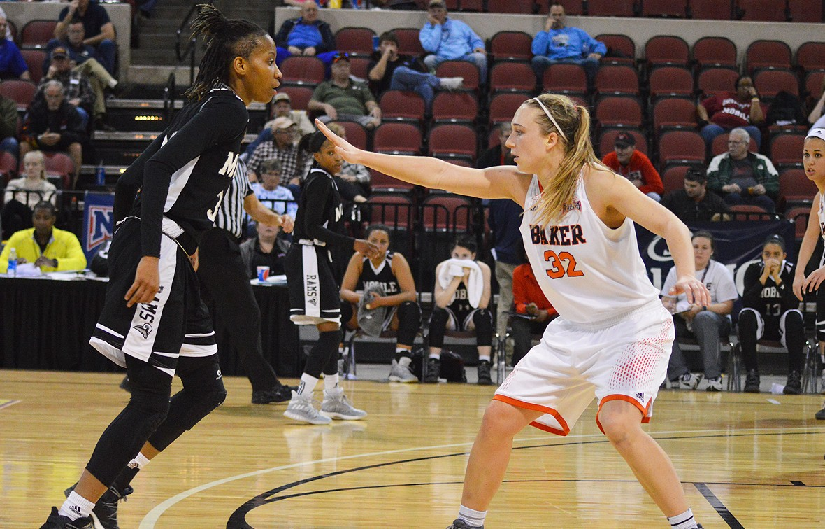 Kelsey Larson led the way for Baker with 26 points