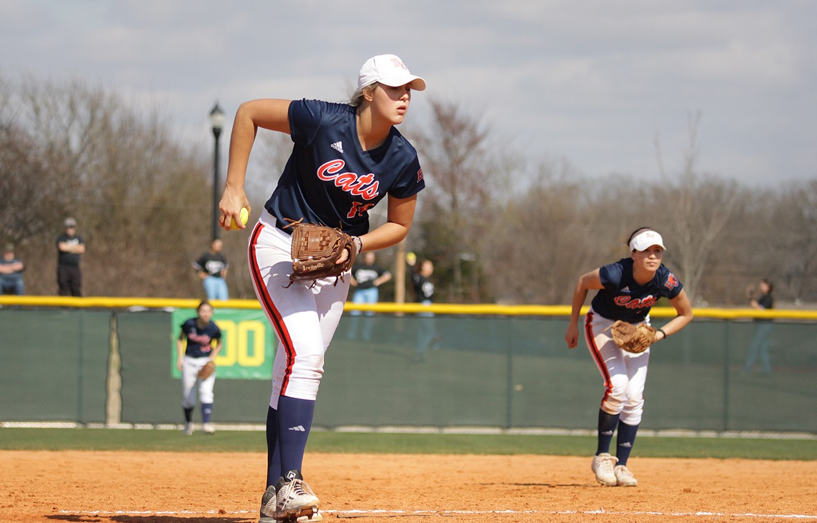 Olivia Brees earned her second-straight Heart Pitcher of the Week Award