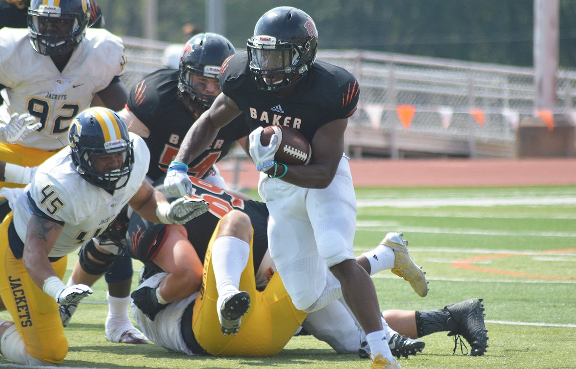 JD Woods is second in the NAIA in scoring TD's with 78 points